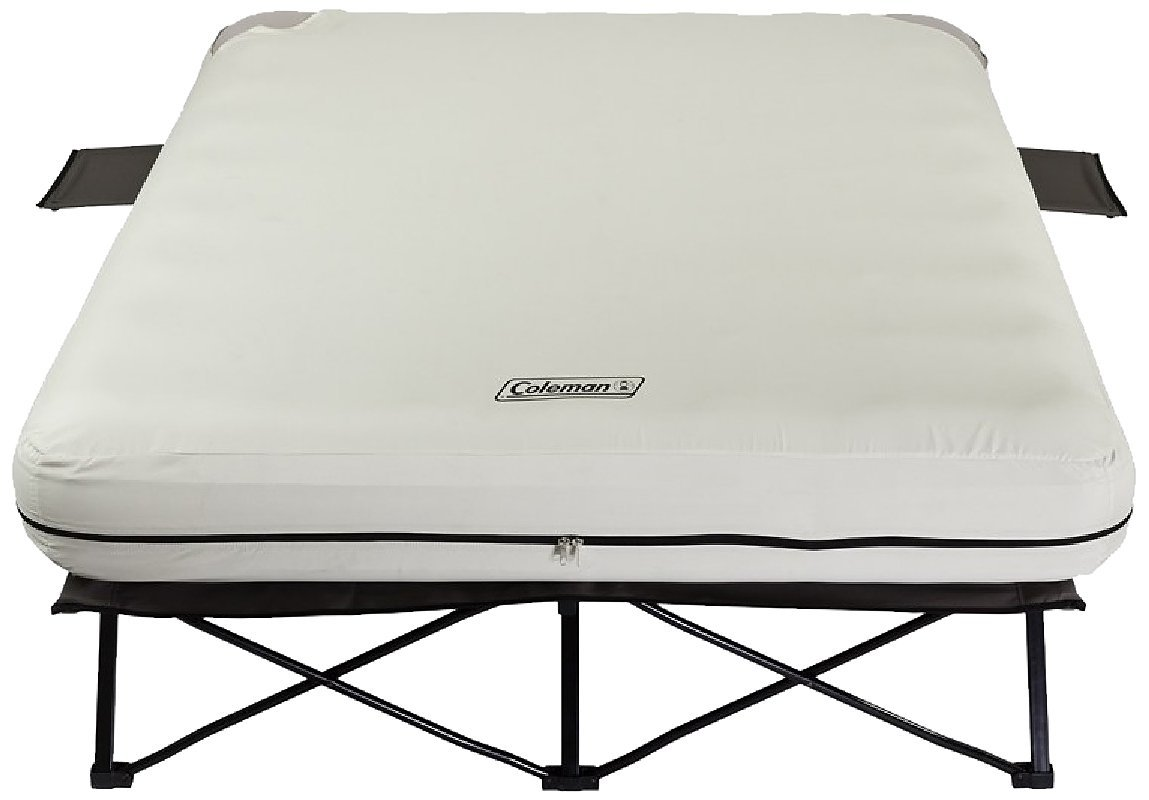 Coleman Queen Airbet Cot with side tables